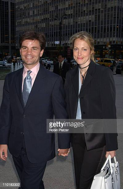 George Stephanopoulos wife Alexandra Wentworth during Hillary Clinton Book Party at The 4 Seasons Restaurant in New York City New York United States