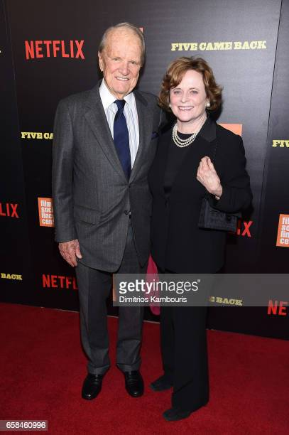 George Stevens Jr and Elizabeth Guest attend the Five Came Back world premiere at Alice Tully Hall at Lincoln Center on March 27 2017 in New York City