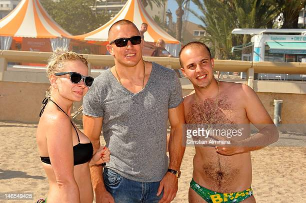 George StPierre attends the Canada Beach Soccer warm up at Mace Plage during the 59th International Festival of Creativity on June 19 2012 in Cannes...