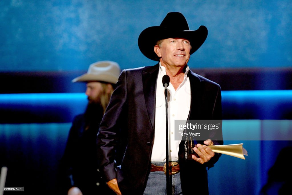 George Strait accepts the Cliffie Stone Icon Award onstage during the 11th Annual ACM Honors at the Ryman Auditorium on August 23, 2017 in Nashville, Tennessee.