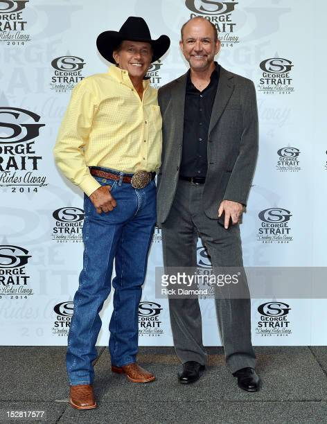 George Strait and Louie Messina The Messina Group pose after Country Superstar George Strait announces The Cowboy Rides Away 20122014 final tour on...