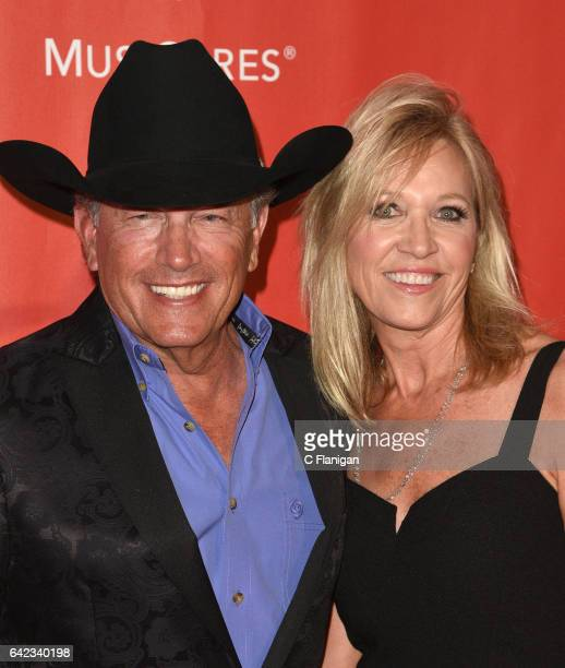 George Strait and Norma Strait attend MusiCares Person of the Year honoring Tom Petty at the Los Angeles Convention Center on February 10 2017 in Los...