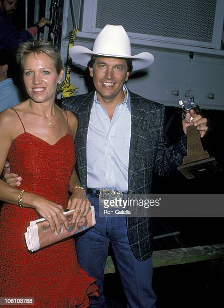 George Strait and Norma Strait during 24th Annual Academy of Country Music Awards at Disney Studio in Los Angeles California United States