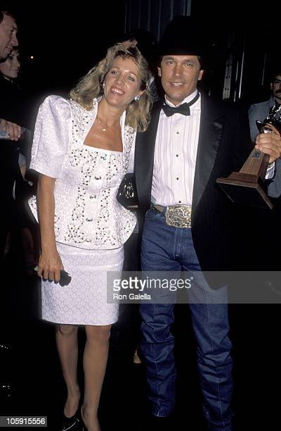 George Strait and Norma Strait during 25th Annual Academy of Country Music Awards at Pantages Theater in Hollywood California United States