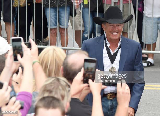 George Strait attends Medallion Ceremony to celebrate 2017 hall of fame inductees Alan Jackson Jerry Reed And Don Schlitz at Country Music Hall of...