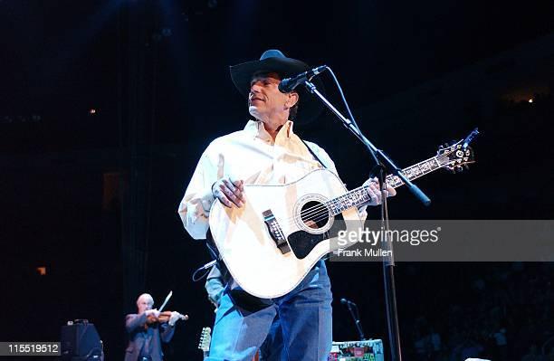 George Strait during George Strait Concert Atlanta at The Arena at Gwinnett Center in Atlanta Georgia United States