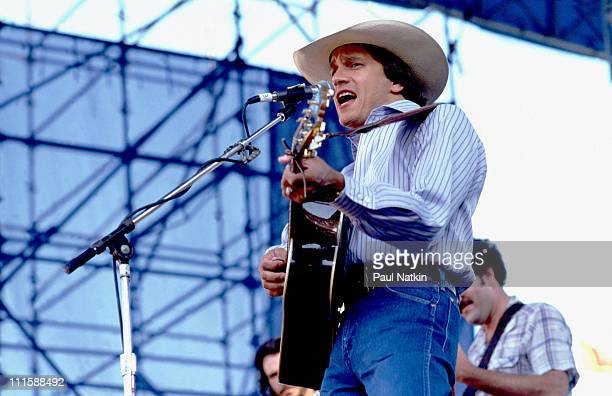 George Strait during George Strait in Concert August 20 1983 at Soldier Field in Chicago Illinois United States