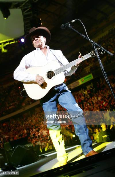 George Strait during George Strait performs to a soldout crowd in Kansas City at Kemper Arena in Kansas City Missouri United States