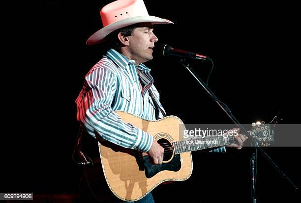 George Strait performs at The Omni Coliseum in Atlanta Georgia on November 1 1995