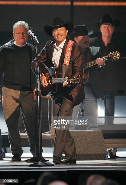 George Strait performs onstage at the 43rd Annual CMA Awards at the Sommet Center on November 11 2009 in Nashville Tennessee