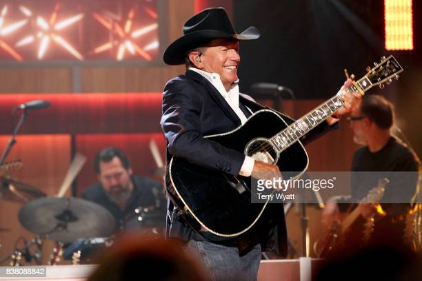 George Strait performs onstage during the 11th Annual ACM Honors at the Ryman Auditorium on August 23 2017 in Nashville Tennessee