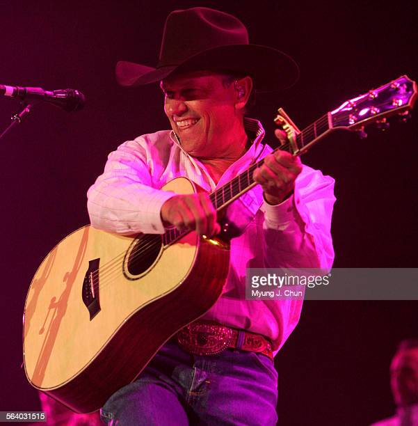 George Strait who surpassed Conway Twitty as the country act with the most No 1 singles performs during the Stagecoach Festival on Saturday May 5...