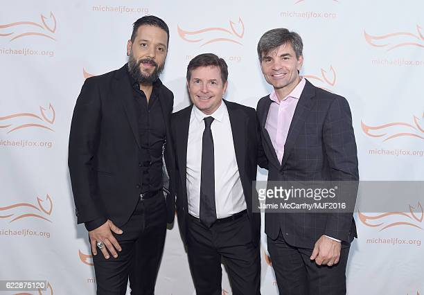 George Stroumboulopoulos Michael J Fox and George Stephanopoulos attend Michael J Fox Foundation's 'A Funny Thing Happened On The Way To Cure...