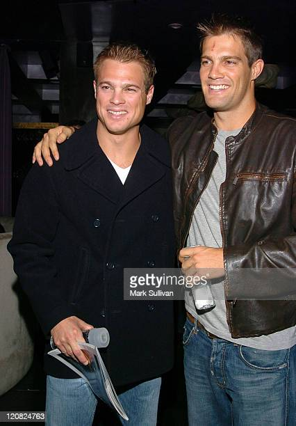 George Stults and Geoff Stults during 1st Annual Young Hollywood Holiday Party at Bliss in Los Angeles California United States