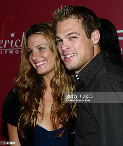 George Stults and guest Heidi during Frederick's of Hollywood 2006 Spring Collection Fashion Show at The Avalon in Hollywood California United States