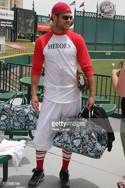 George Stults during Klein Creative Communications Provides Gift Bags at the 2006 Reebok Heroes Celebrity Baseball Game at Dr Pepper Ballpark in...