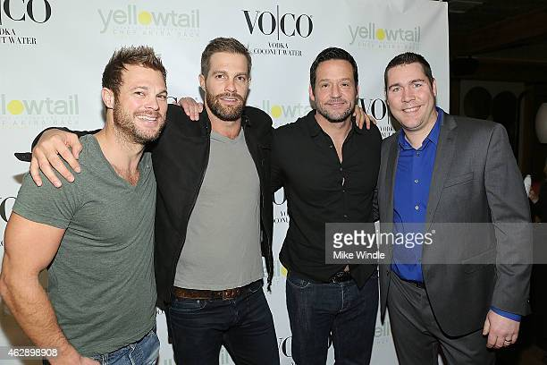 George Stults Geoff Stults Josh Hopkins and Craig Ley attend the Yellowtail Sunset Grand Opening on February 6 2015 in West Hollywood California