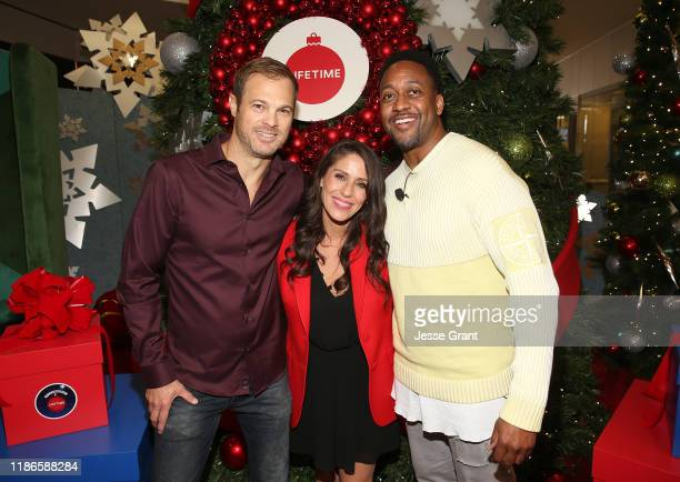 George Stults Soleil Moon Frye and Jaleel White attend the Lifetime's Christmas Movie Stars Kick Off Say Santa with It's A Wonderful Lifetime Photo...