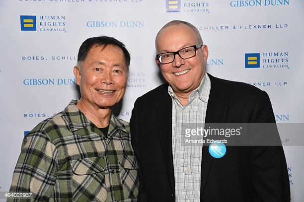 George Takei and Brad Takei attend Equality Unscripted on January 19 2014 in Park City Utah