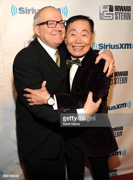 George Takei and Brad Takei attend Howard Stern's Birthday Bash Presented By SiriusXM Produced By Howard Stern Productions at Hammerstein Ballroom on...