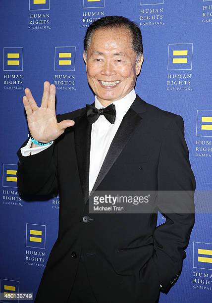George Takei arrives at the Human Rights Campaign Los Angeles gala dinner held at JW Marriott Los Angeles at LA LIVE on March 22 2014 in Los Angeles...