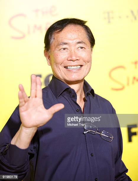 George Takei arrives to The Simpsons Treehouse of Horror 20th Anniversary party held at the Barker Hangar on October 18 2009 in Santa Monica...