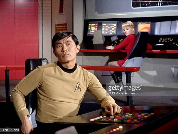 George Takei as Hikaru Sulu in the STAR TREK THE ORIGINAL SERIES episode 'Assignment Earth' Season 2 episode 26 Original air date was March 29 1968...