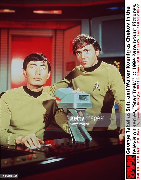 George Takei As Sulu And Walter Koenig As Chekov In The Television Series 'Star Trek'