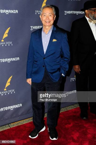 George Takei attends 2017 Drama Desk Awards Arrivals at Anita's Way on June 4 2017 in New York City