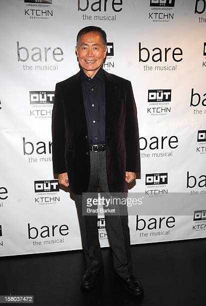 George Takei attends BARE The Musical Opening Night at New World Stages on December 9 2012 in New York City