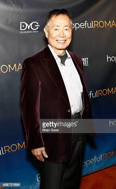 George Takei attends Matt Zarley's Original Musical Short Film hopefulROMANTIC at American Film Institute on November 9 2014 in Los Angeles California