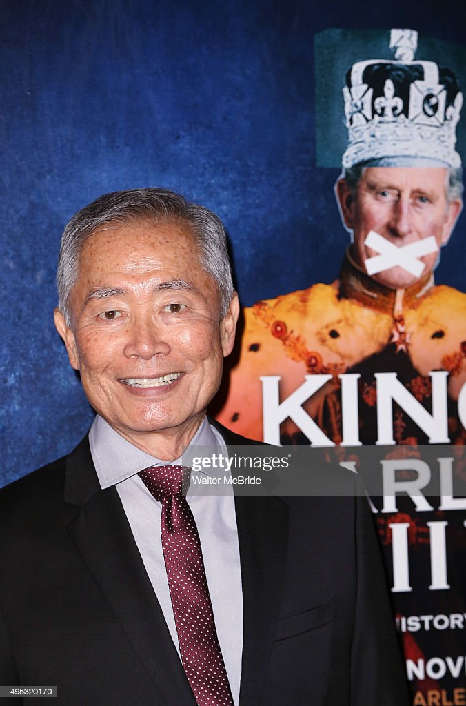 George Takei attends the Broadway Opening Night performance of 'King Charles III' at the Music Box Theatre on November 1, 2015 in New York City.