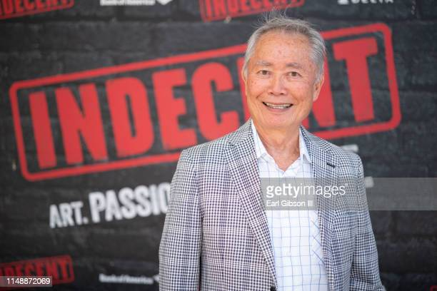 George Takei attends the opening of Indecent at Ahmanson Theatre on June 9 2019 in Los Angeles California