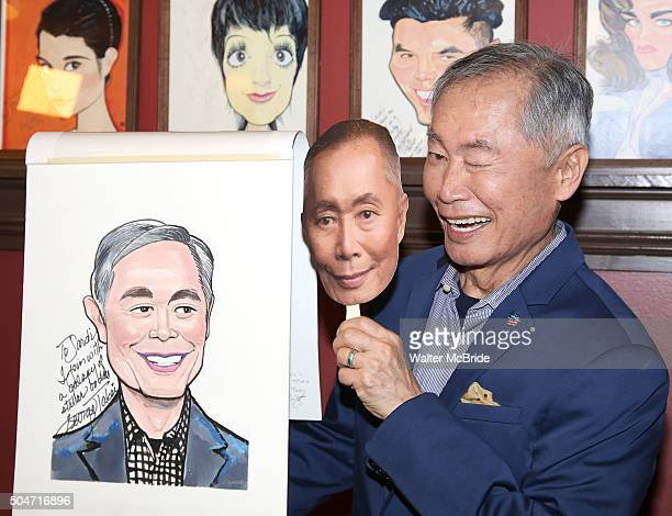 George Takei attends the Sardi's caricature unveiling for George Takei at Sardi's on January 12 2016 in New York City