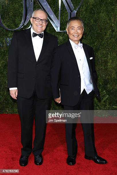 George Takei left and Brad Altman attend the American Theatre Wing's 69th Annual Tony Awards at Radio City Music Hall on June 7 2015 in New York City