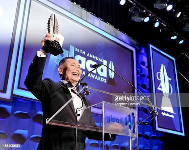 George Takei speaks at the 25th Annual GLAAD Media Awards on May 3 2014 in New York City