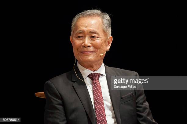George Takei speaks during 'George Takei From Barbed Wire To Broadway In Conversation' at Japan Society on January 25 2016 in New York City