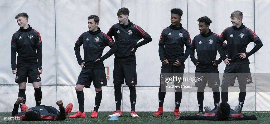 Manchester United U19 Training Session : News Photo