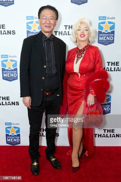 George Tao and Kassandra Caroll attend The Thalians Holiday Party with Kira Reed Lorsch as Chair at Bel Air Country Club on December 1 2018 in Los...