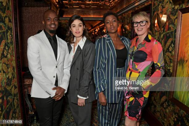 George The Poet Gala Gordon Jade Anouka and Isabella Macpherson attend the launch of Montblanc's 2019 Writers Edition 'Rudyard Kipling' at Annabel's...