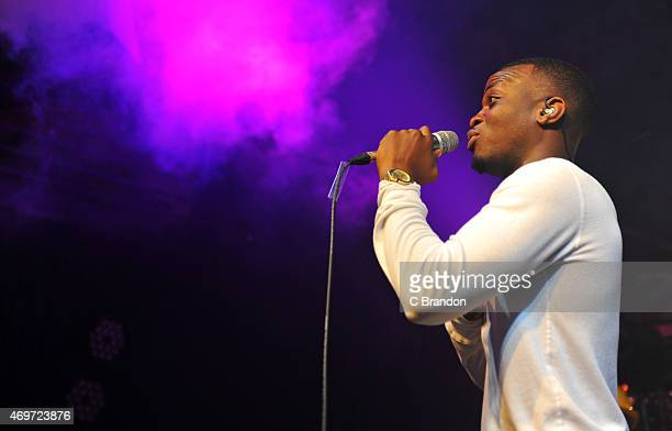 George the Poet performs on stage at Scala on April 14 2015 in London United Kingdom