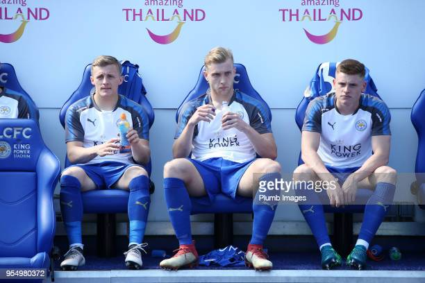 George Thomas Sam Hughes and Harvey Barnes of Leicester City all start on the bench for the Premier League match between Leicester City and West Ham...