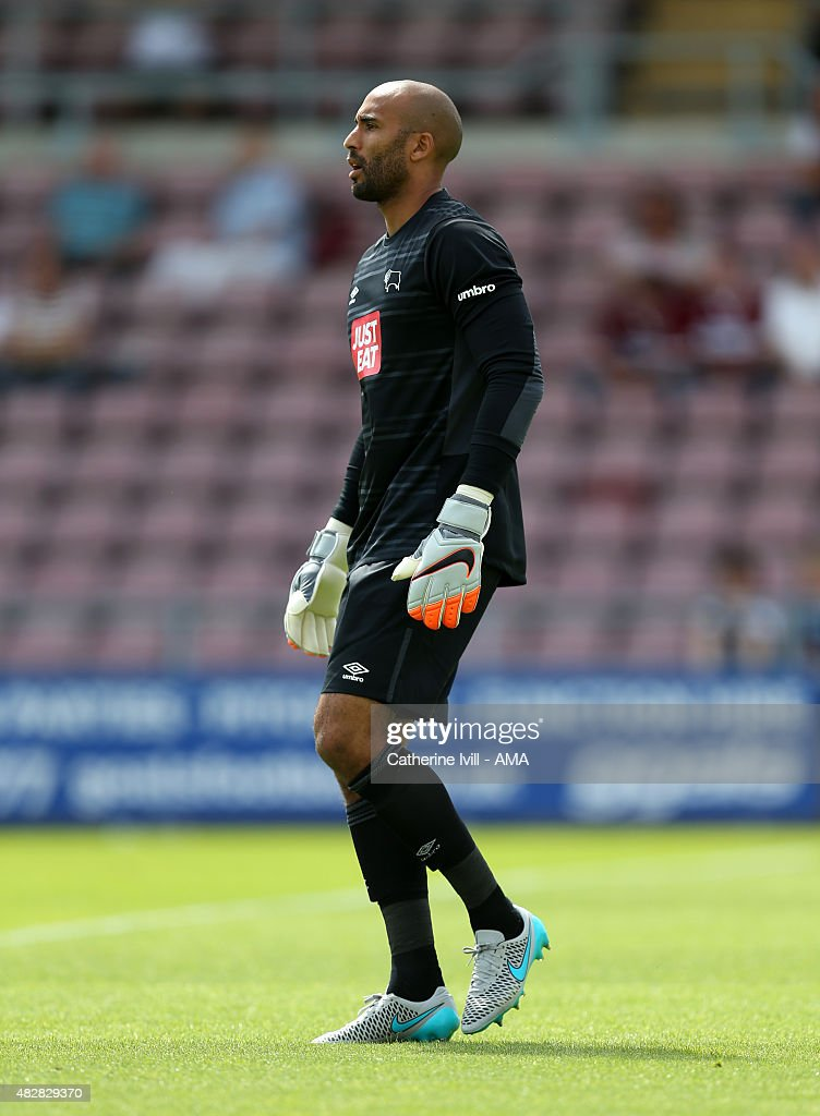 George Thorne of Derby County during the pre-season friendly between Northampton Town and Derby County at Sixfields on July 18, 2015 in Northampton, England.