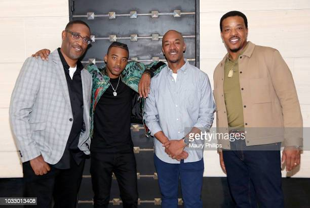 George Tillman Alge Smith Datwon Thomas and Russell attend the screening of George Tillman's 'The Hate U Give' presented by ICON MANN and Vibe...