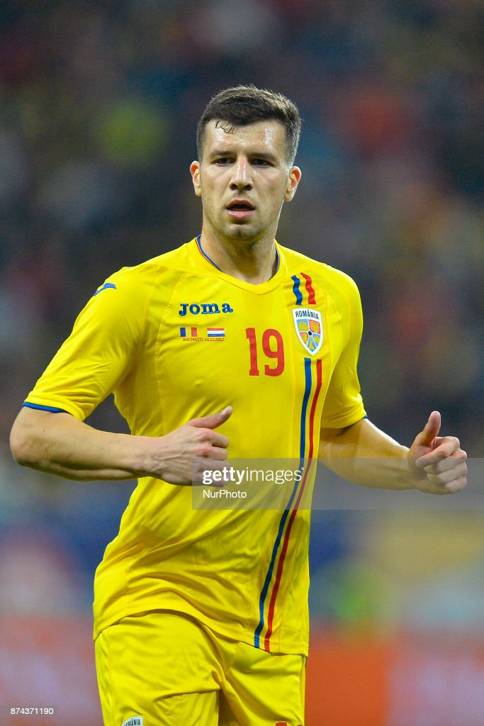 George Tucudean (Rom) during the International Friendly match between Romania and Netherlands at National Arena Stadium in Bucharest, Romania, on 14 november 2017.