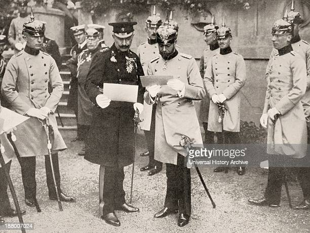 George V Of England Visiting His Cousin The Kaiser Wilhelm Ii Of Germany In 1913 From La Esfera 1914