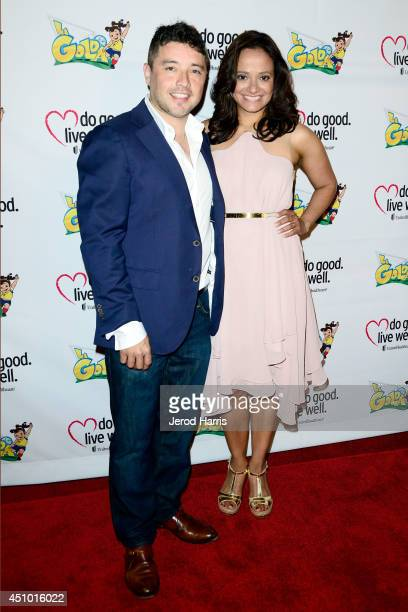 George Valencia and Judy Reyes arrive at the premiere of 'LA GOLDA' at The Crest on June 21 2014 in Los Angeles California