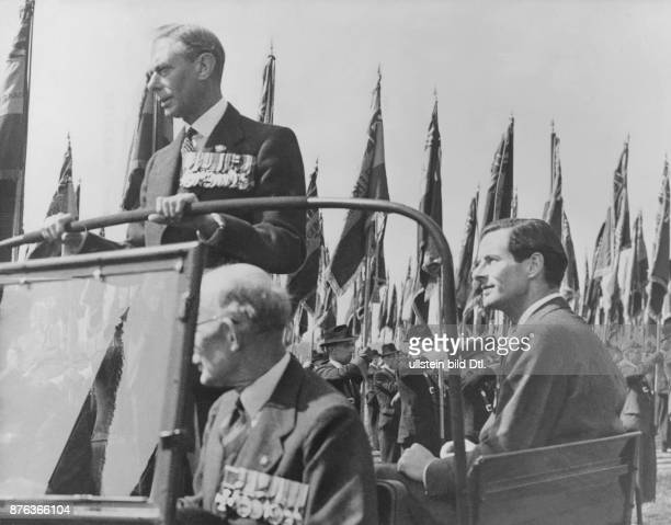 George VI King of the United Kingdom and the Dominions of the British Commonwealth 19361952 George VI during the royal review of the british legion...