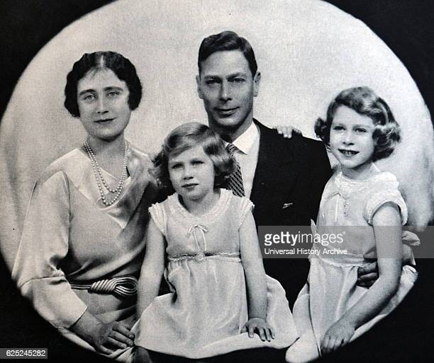 George VI; King of the United Kingdom, as Duke of York together with Elizabeth and Princess Elizabeth later Queen Elizabeth II. Princess Margaret is...