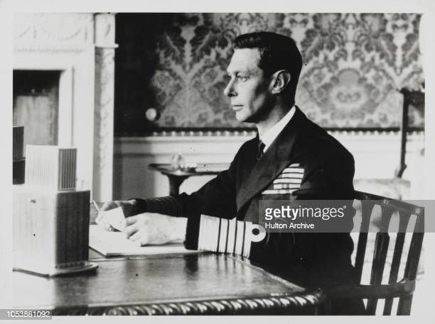 George VI Reads The Declaration Of War.